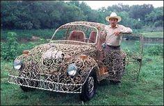 Art Car Central | Art Cars | Art Bikes | Art Vehicles | Videos: Wrought Iron VW - Heavy Metal Bugs Hit the Road