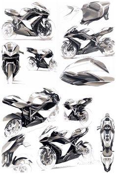 Anthony Collard motorbike sketches