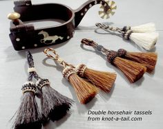 Adorable horse hair Double Tassel Double horsehair by Knotatail