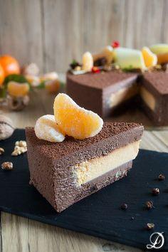 Tarta de Mousse de Chocolate con un ligero toque de Pimienta de Sichuan y delicioso interior de crema de Mandarina