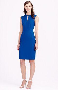 Keyhole dress in Italian stretch wool Keyhole Dress 7077a1cbf8