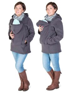 Baby carrier hoodie Kangaroo coat/jacket for MOM and baby, baby wearing hoodie  Size XL GREY