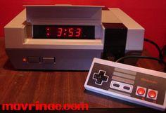 Nintendo Entertainment System NES System Console Controller Cartridge Game Retro DIY Hack How To Project Mod Modification Alarm Clock Alarmclock digitaln