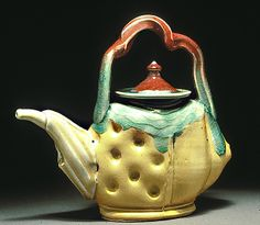 Teapot by Frank R Martin Teapots And Cups, Ceramic Teapots, Ceramic Art, Chocolate Pots, Chocolate Coffee, Frank Martin, Tea Pot Set, Mad Hatter Tea, Tea Party