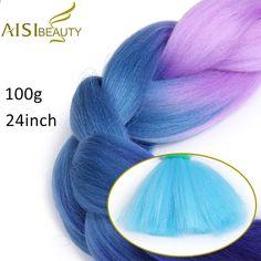 Aisi Hair 24 Inch 100g/pack Ombre Kanekalon Crochet Jumbo Braid Hair Extensions Pink Braids Hairs Available 88 Color Braiding Shrink-Proof Hair Braids