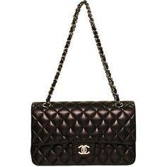 Chanel Black Classic Quilted Shoulder Handbag