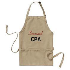 Seasoned CPA Funny Accountant Joke Pun Name Adult Apron - decor gifts diy home & living cyo giftidea