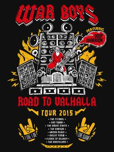 """Road to Valhalla Tour"" T-Shirts & Hoodies by Olipop 
