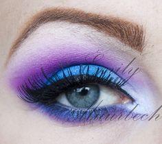Bright blue and purple