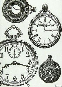 Ricepaper / Decoupage Papel Scrapbooking Hojas En Blanco Y Negro Relojes