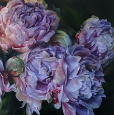 Marcella Kaspar - Are these peonies? Peony Painting, Watercolor Flowers, Watercolor Paintings, Oil Paintings, Foto Art, Arte Floral, Botanical Art, Beautiful Artwork, Art Oil