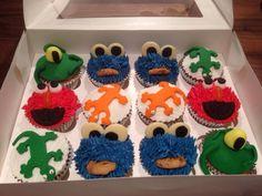 Lisabscupcakes Little monster cupcakes
