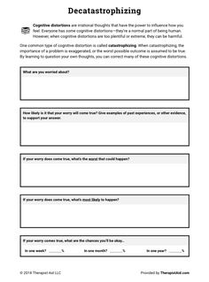 Cbt Worksheets, Counseling Worksheets, Therapy Worksheets, Counseling Activities, Printable Worksheets, Classroom Activities, Classroom Ideas, Group Therapy Activities, Adhd