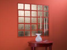 Schlagmetall aufkleben© SelbermachenMetallfarben sind bei der Wandgestaltung