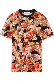 Givenchy T-shirt in floral-print cotton-jersey    NET-A-PORTER