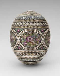 Mosaic Imperial Easter Egg by Peter Carl Faberge