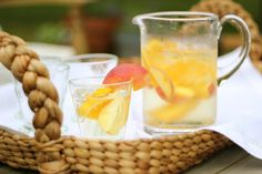 Jenny Steffens Hobick: White Peach Sangria   Summer Cocktail Recipes