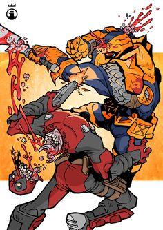 #Deadpool #Fan #Art. (Deadpool vs Deathstroke) By: IrfaanSepetz. (THE * 3 * STÅR * ÅWARD OF: AW YEAH, IT'S MAJOR ÅWESOMENESS!!!™) [THANK U 4 PINNING!!!<·><]<©>ÅÅÅ+(OB4E)