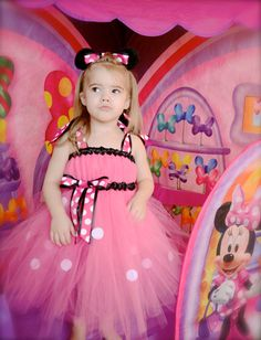 Minnie Mouse Tutu Dress  - Tulle Disney Pink