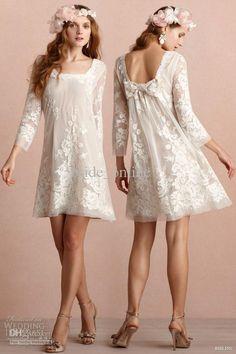 05e073713 Sexy Sheath Chiffon Ivory Knee Length Long Sleeves Square Lace Bridesmaid  Dress 2013 New Best Bridesmaid Dresses Bridemaid Dresses From Bride_online,  ...