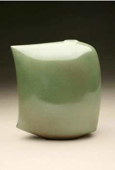 Ceramics by Ruth King at Studiopottery.co.uk - 2011. Green sailing vessel, cropped