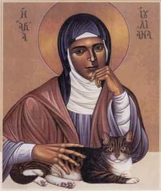 St. Julian of Norwich and her cat