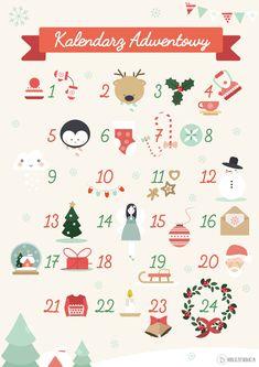 Kalendarz adwentowy do druku