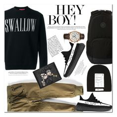 """Hey Boy"" by es-vee ❤ liked on Polyvore featuring McQ by Alexander McQueen, Bardot Junior, adidas, Hurley, Dolce&Gabbana, Longines, men's fashion and menswear"