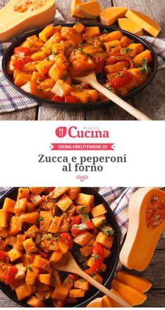 #Zucca e #peperoni al forno