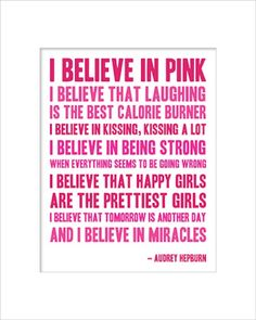 a smile a day :) I believe in PINK