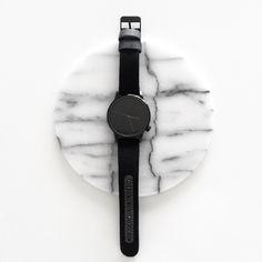 Komono watch, we love it! Minimalist and black.. Perfect! http://uptostyle.hu/komono/