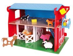 Imaginative Play with Heritage Playsets from Bigjigs Toys... One lucky reader will win a Red Barn playset during Keeping Kids Creative!