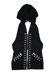 Girl Urban Groove Dance Costume Black Studded Halter Hoddie Hip Hop Size SC 6/6X #UrbanGroove