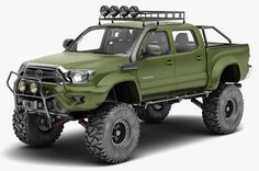Download wallpaper Green, 4x4, Special Edition, PickUp, Toyota Tacoma, section toyota in resolution 1710x1136