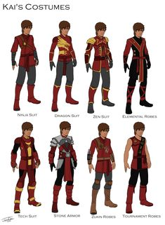 Kai's Costume designs by joshuad17.deviantart.com on @DeviantArt
