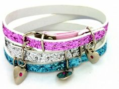 Glitter Pet Collar with Heart Charm - Unique Inspired Gift Ideas From Tain Brae World
