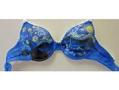 Starry Night - by McKenzie Wampler - The Painted Bra Art Project - Bid Now!