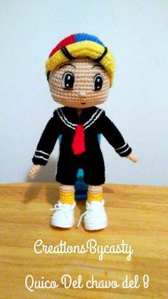 Quico del chavo del 8 muñeca Amigurumi por CREATIONSOFCASTY en Etsy