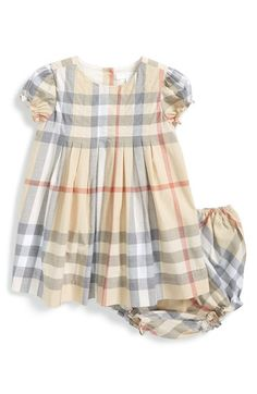 Burberry 'Ellalu' Check Print Dress & Bloomers (Baby Girls) available at #Nordstrom