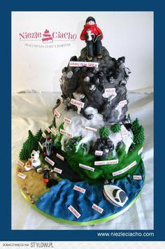 Góry, wspinaczka w góry, climbing, wycieczka górska, miłośniczka gór, miłośnik gór, tort na zamówienie,  tort dla miłośnika gór