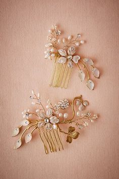 Gold Winter Garden Combs | BHLDN