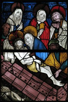 Stained Glass Panel with the Entombment  Date: 15th century Culture: German