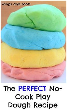 The PERFECT no cook play dough recipe - comes out perfect every time!