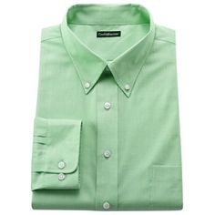 Croft and Barrow Slim Fit Solid Button-Down Collar Easy-Care Dress Shirt
