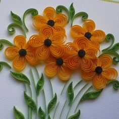 Summer is in the air;-) #quillingflowers #quilled #quillingcreation #quilling #quillingcard in #Wroclaw
