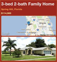 3-bed 2-bath Family Home in Spring Hill, Florida ►$114,900 #PropertyForSale #RealEstate #Florida http://florida-magic.com/properties/19566-family-home-for-sale-in-spring-hill-florida-with-3-bedroom-2-bathroom