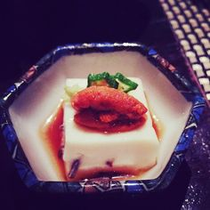 #uni#sashimi#tofu#豆腐#刺身#馬糞海膽#鮮味#滑嘟嘟#inakaya#vinegar#kaiseki#autumn#menu#前菜#秋#懷石#101樓#田舍家#hk#hkrestaurant#japanese#finedining by lisawu_taitai