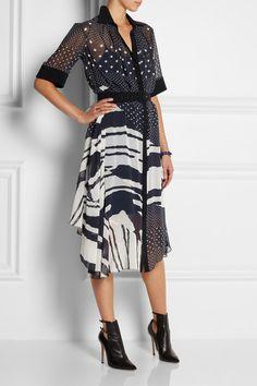 Preen by Thornton Bregazzi = Fallon Printed Georgette Dress