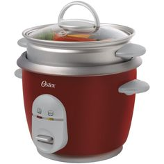Oster 004722-000-000 Rice Cooker, 6 Cup, Red >>> This is an Amazon Affiliate link. More info could be found at the image url.