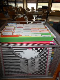 Desk Organizer and lesson plan book